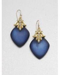 Alexis Bittar - Blue Jewelcapped Lucite Earrings - Lyst