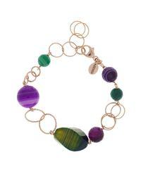 Azendi | Green Agate Sardonyx Bracelet | Lyst