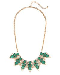 BaubleBar | Green Emerald Garbo Necklace | Lyst