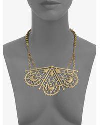 Bing Bang - Metallic Sacred Geometry Bib Necklace - Lyst