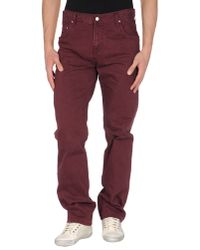 Carhartt Purple Denim Trousers for men