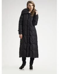 Cole Haan | Black Long Down Coat | Lyst