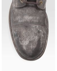Dolce & Gabbana | Black Weathered Leather Boots for Men | Lyst