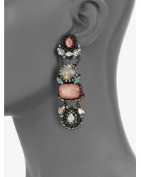 Erickson Beamon | Pink Modern Moghul Linear Drop Earrings | Lyst