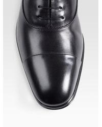 Ferragamo - Black Fedele Leather Oxford Shoes for Men - Lyst