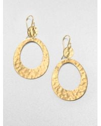 Ippolita | Metallic Glamazon 18K Yellow Gold Disc Double Circle Drop Earrings | Lyst