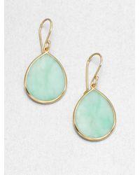 Ippolita | Green Mint Chrysoprase 18k Gold Teardrop Earrings | Lyst