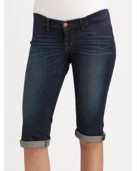 J Brand | Blue Bermuda Denim Shorts | Lyst