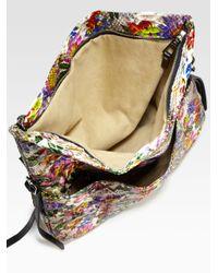 Jimmy Choo | Floral Python Biker Shoulder Bag | Lyst