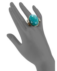 Judith Leiber - Blue Sheba Crystal Cabochon Ringturquoise - Lyst