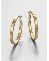 kate spade new york | Metallic Bar None Square Hoop Earrings/1.5 | Lyst