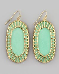 Kendra Scott - Green Dayla Small Drop Earrings - Lyst
