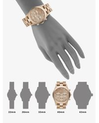 Marc By Marc Jacobs - Metallic Gold Ion-plated Chronograph Watch - Lyst