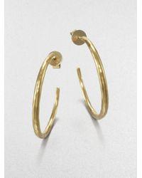 Mija - Metallic Hammered Hoop Earrings/1.5 - Lyst