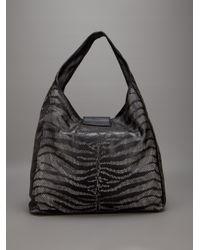 Roberto Cavalli | Black Tiger Striped Bag | Lyst