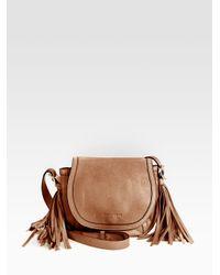 See By Chloé Brown Twin Tassels Crossbody Bag