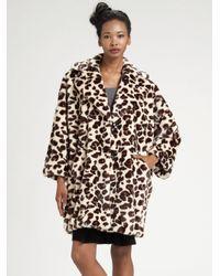 Sonia by Sonia Rykiel | Natural Oversized Animal-print Coat | Lyst