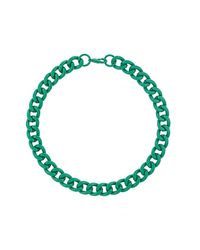 TOPSHOP | Green Chunky Chain Collar | Lyst