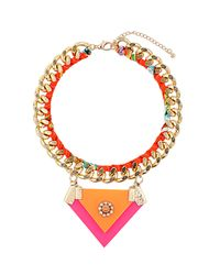 TOPSHOP | Multicolor Layered Chain Wrap Necklace | Lyst