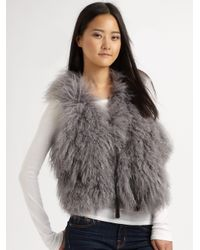 UGG | Gray Mongolian Sheep Shearling Vest | Lyst