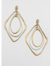 Alexis Bittar - Metallic Liquid Twotone Orbiting Drop Earrings - Lyst