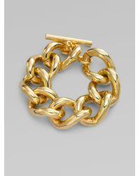 Ben-Amun Metallic Chunky Curb Chain Bracelet