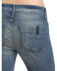 Black Orchid Blue Distressed Bell Bottom Jeans