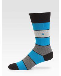 BOSS Orange - Blue Thick Striped Socks for Men - Lyst