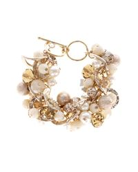 Coast | Metallic Cynthia Pearl Bracelet | Lyst