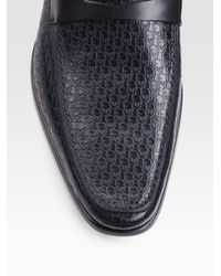 Dior Homme | Black Embossed Leather Loafers for Men | Lyst