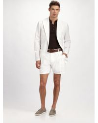 Dolce & Gabbana | White Linen Shorts for Men | Lyst