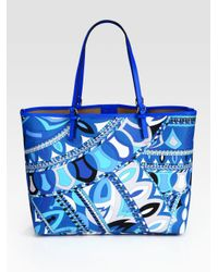 Emilio Pucci - Blue Beach Bag - Lyst