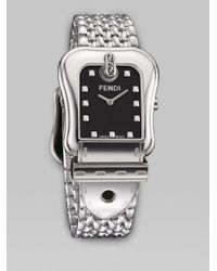 Fendi | Metallic B Milanese Watch | Lyst