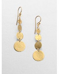 Gurhan | Metallic Lush 24k Yellow Gold Flake Drop Earrings | Lyst