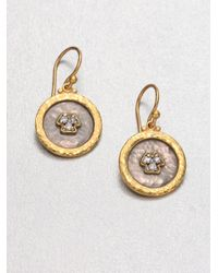 Gurhan | Metallic Imperial Diamond, 24k Yellow Gold & Sterling Silver Drop Earrings | Lyst
