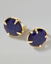 Ippolita | Metallic 18k Gold Rock Candy Gelato Lapis Stud Earrings | Lyst