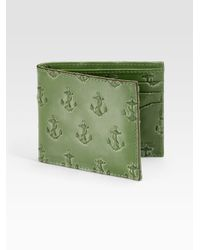 Jack Spade | Green Anchor-embossed Wallet for Men | Lyst