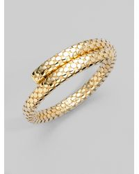 John Hardy - Metallic 18k Gold Single Coil Bracelet - Lyst