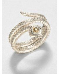 John Hardy | Metallic 18k Gold Sterling Silver Coil Bangle Bracelet | Lyst