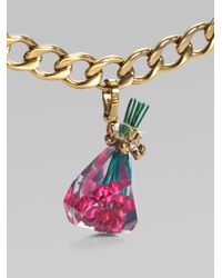 Juicy Couture - Metallic Bouquet Of Roses Charm - Lyst