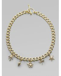 Juicy Couture Metallic Fun in The Sun Charm Necklace