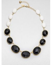 kate spade new york Black Dual Color Graduated Necklace