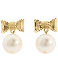 Kate Spade | Natural All Wrapped Up Pearl Earrings | Lyst