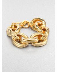 Kenneth Jay Lane - Metallic Polished Link Bracelet - Lyst