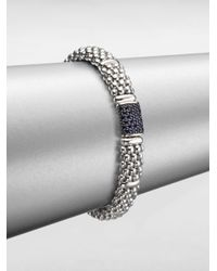 Lagos | Black Blue Sapphire Sterling Silver Bracelet | Lyst