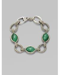 Lagos | Metallic Malachite Doublet Sterling Silver Link Bracelet | Lyst