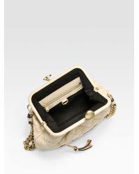 Marc Jacobs White Little Stam Quilted Shoulder Bag