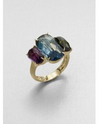 Marco Bicego | Metallic Murano London Blue Topaz, Green Tourmaline, Amethyst & 18k Yellow Gold Ring | Lyst