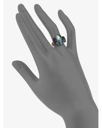 Marco Bicego - Metallic Murano London Blue Topaz, Green Tourmaline, Amethyst & 18k Yellow Gold Ring - Lyst
