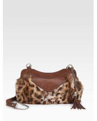 Olivia Harris | Multicolor Zip Pocket Fur Frame Clutch | Lyst